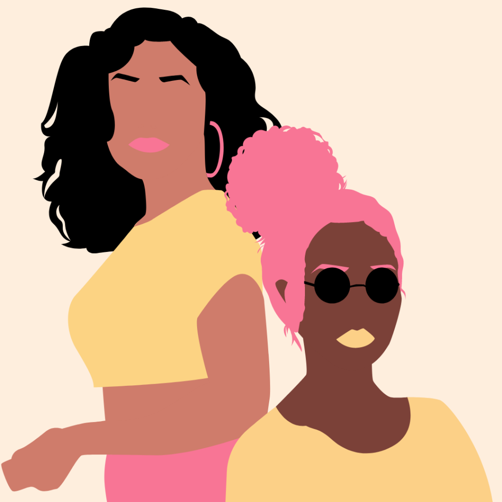 two black women or women of color