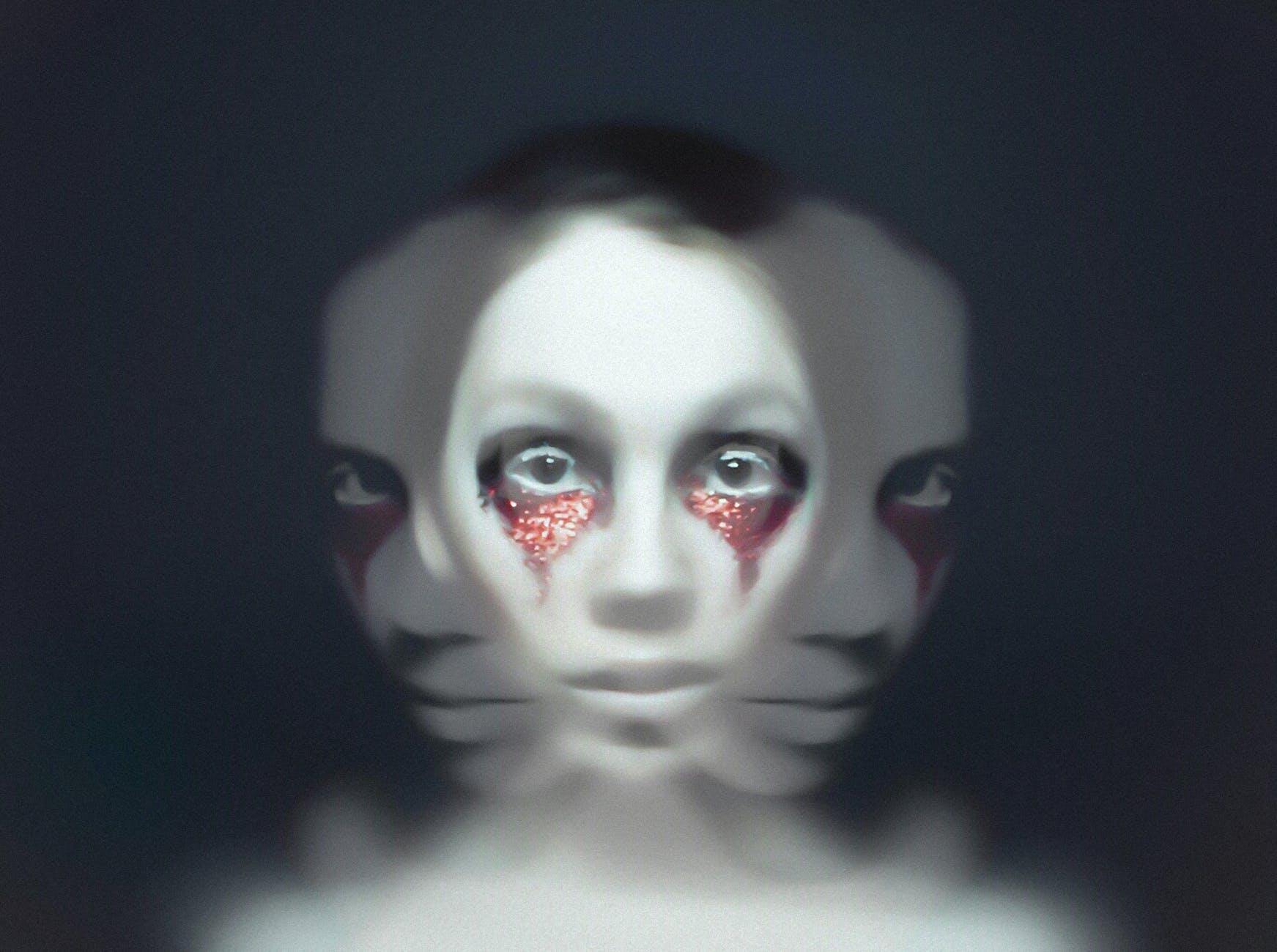 woman s face; spooky