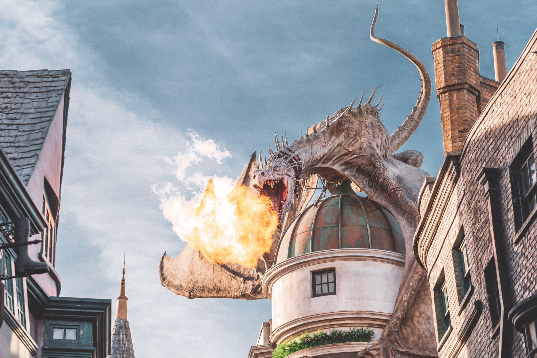 hungarian horntail dragon at universal studios