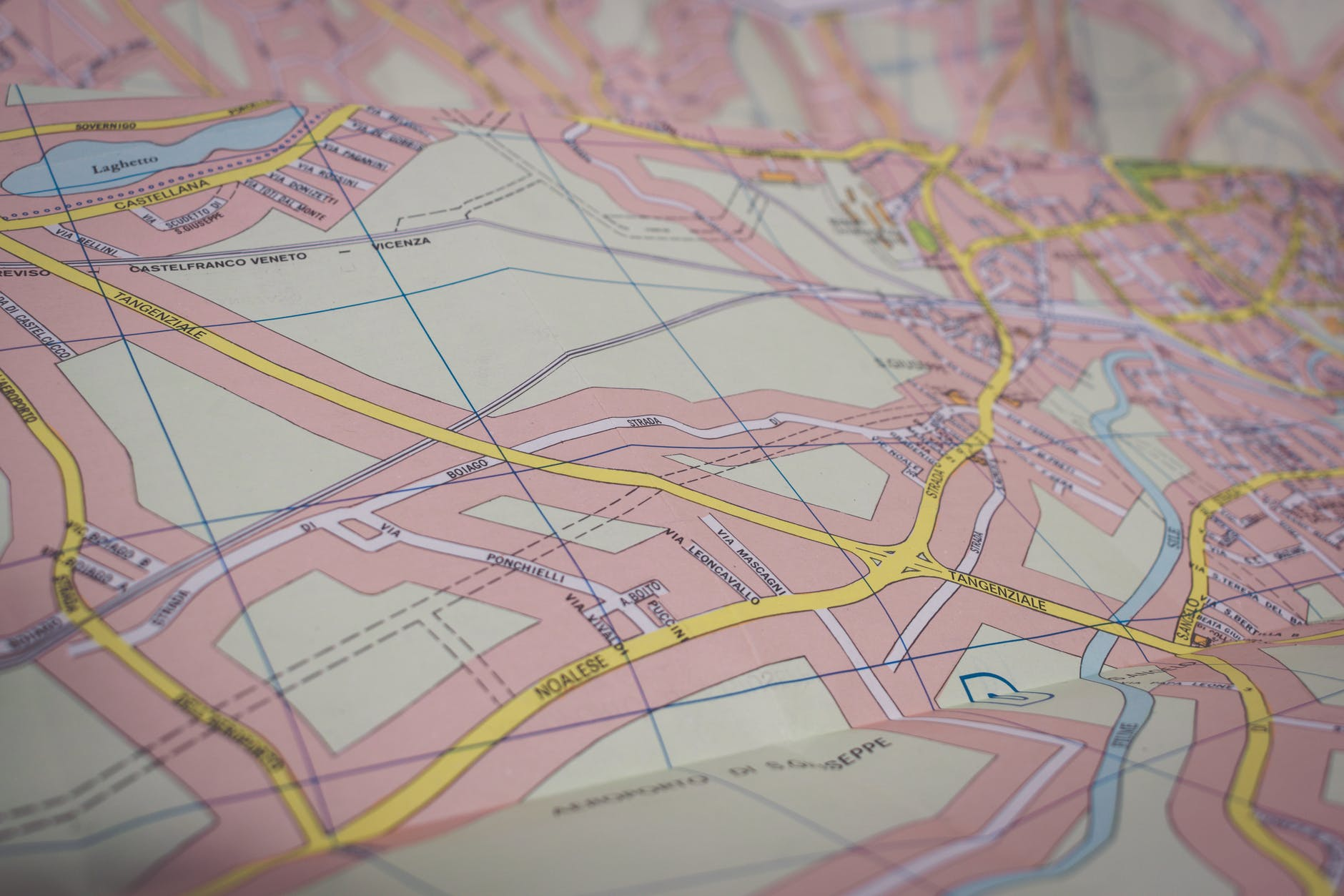 close up photo of map