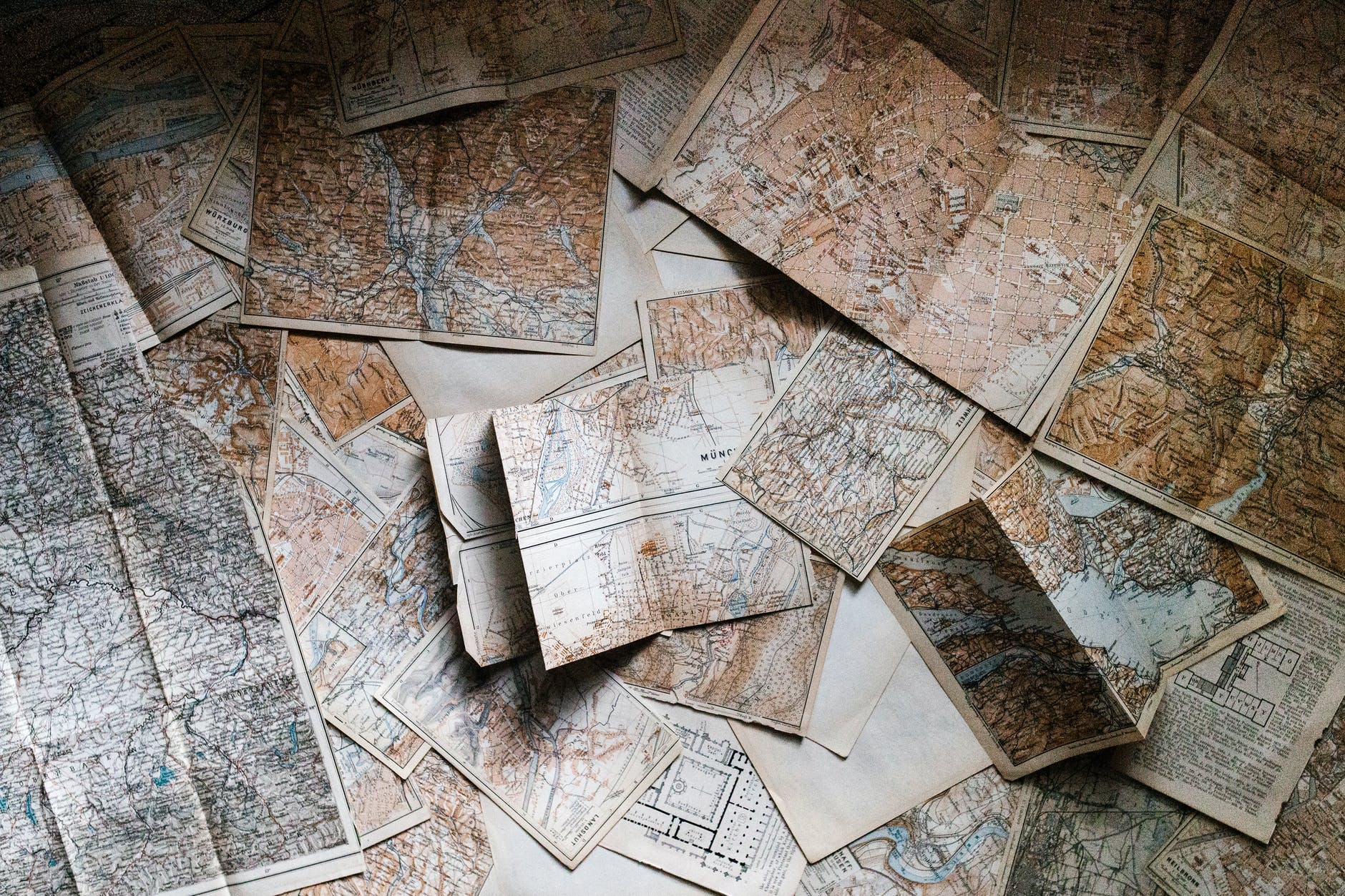 assorted map pieces; world building on Writers week on wins books