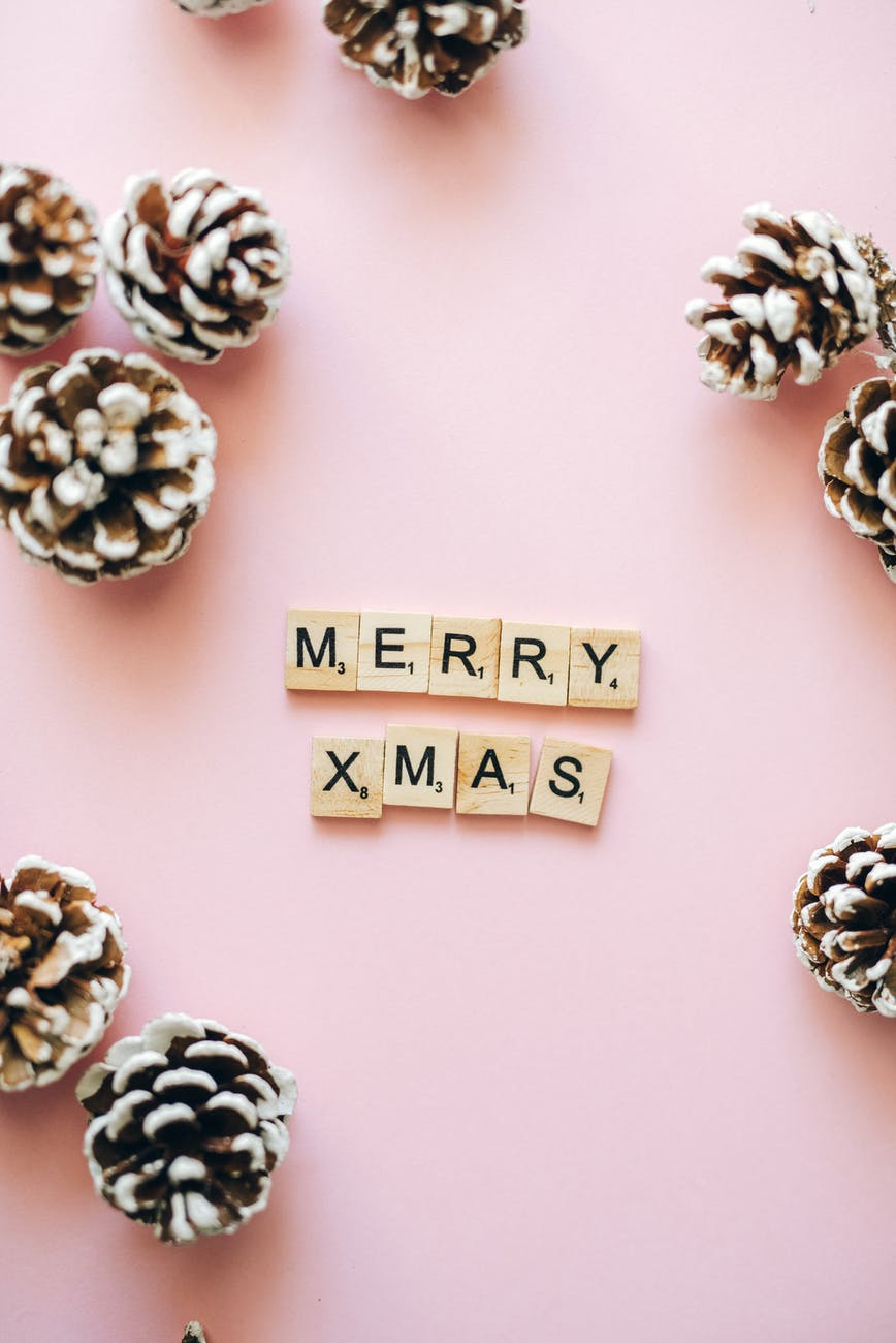 merry xmas text on wooden scrabble tiles Want to try 5 Christmas Project Ideas by Liberty?  Get them Here!